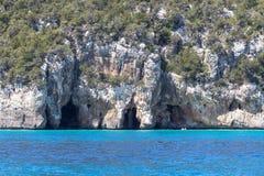 Östlig kustlinje på den Sardinia ön, Italien Royaltyfri Foto