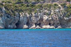 Östlig kustlinje på den Sardinia ön, Italien Fotografering för Bildbyråer
