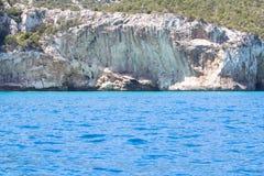 Östlig kustlinje på den Sardinia ön, Italien Royaltyfri Fotografi