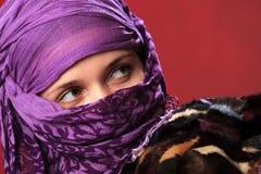 östlig kvinna för skönhet Fotografering för Bildbyråer