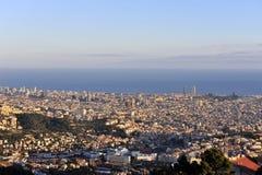 östlig linje spain sikt för flyg- barcelona kust Royaltyfria Foton