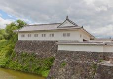 Östlig maingate av den andra borggården av den Yamagata slotten, Japan Arkivfoton
