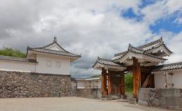 Östlig maingate av den andra borggården av den Yamagata slotten, Japan Royaltyfri Bild