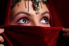 östlig mystisk kvinna Fotografering för Bildbyråer