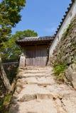 Östlig port av den Bitchu Matsuyama slotten, Takahashi, Japan Arkivfoto