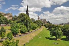 Östlig prinsessa Street Gardens i Edinburg Arkivfoto