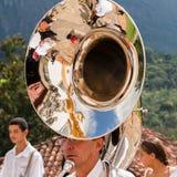 Östlig procession Tiradentes Brasilien royaltyfri fotografi
