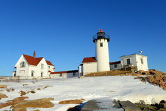 Östlig punktfyr, udde Ann, Massachusetts Arkivbilder