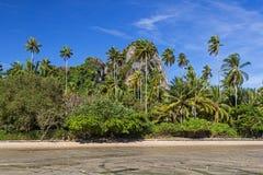Östlig Railay strand i det Krabi landskapet av Thailand fotografering för bildbyråer