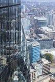 Östlig sida av staden av London cityscape Royaltyfri Fotografi