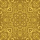 Östlig, stiliserad guld- prydnad Royaltyfria Foton