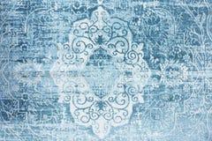Östlig textur för tappningfiltblått royaltyfria bilder