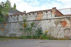 Östlig vägg av det Noykhauzen låset Royaltyfri Foto