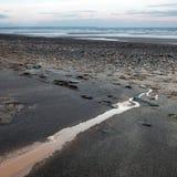 Östlig Yorkshire för Barmston strand kust England Arkivfoton