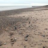 Östlig Yorkshire för Barmston strand kust England Arkivbilder