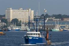 Östliga blått för skyttel för kommersiellt fiske Arkivbild