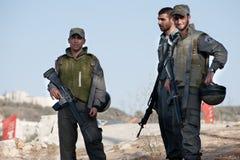 östliga israeliska jerusalem soldater fotografering för bildbyråer