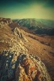 Östliga Krim berg abstrakt bildtappning för bakgrund 3d Royaltyfri Fotografi