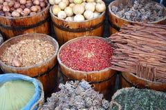 östliga kryddor för trummor Arkivbilder