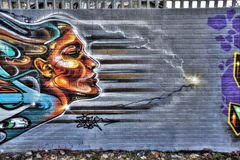 Östliga London grafitti Royaltyfri Foto