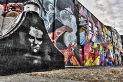 Östliga London grafitti Arkivfoton