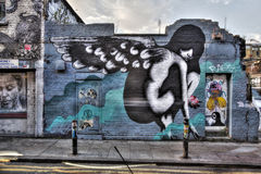 Östliga London grafitti Royaltyfri Fotografi