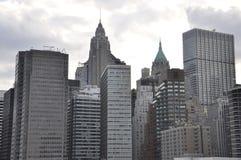 Östliga Manhattan skyskrapor från New York City i Förenta staterna arkivfoto