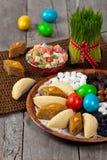 Östliga sötsaker på Nowruz ferie Royaltyfria Bilder