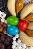 Östliga sötsaker på Nowruz ferie Arkivfoton