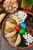 Östliga sötsaker på Nowruz ferie Royaltyfri Foto
