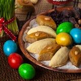 Östliga sötsaker på Nowruz ferie Royaltyfri Bild