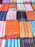 östliga scarfs för basar Arkivbild