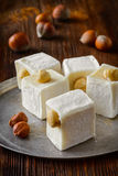 Östliga smakliga orientaliska sötsaker eller turkisk fröjd Royaltyfri Bild