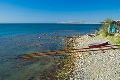 Östligt Crimean kust- landskap arkivbilder