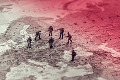 Östligt - europeisk militär konflikt royaltyfri bild