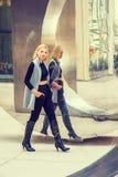 Östligt - europeisk yrkesmässig kvinna som arbetar i New York royaltyfria foton