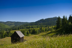 östligt - europeiskt berglandskap Arkivfoton