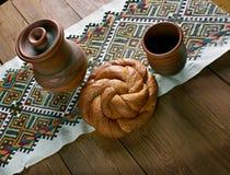 Östligt - europeiskt påskbröd arkivbild