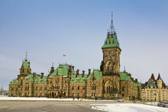 Östligt kvarter av parlamentbyggnad i Ottawa arkivfoton