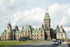 Östligt kvarter av parlamentet - Ottawa - Kanada arkivbilder