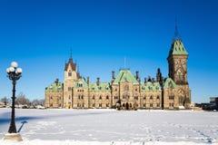 Östligt kvarter för Ottawa parlament Arkivbild