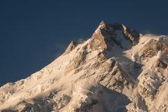 Östligt maximum av den Nanga Parbat bergmassiven, Chilas, Pakistan arkivfoton