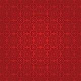 Östligt rött tyg med prydnaden Fotografering för Bildbyråer