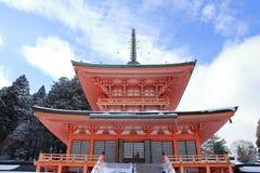 Östligt torn av den Enryaku templet arkivbilder