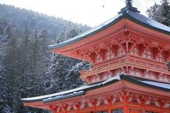 Östligt torn av den Enryaku templet fotografering för bildbyråer