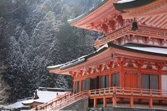 Östligt torn av den Enryaku templet royaltyfria foton
