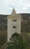 Östligt torn av den Zaaleck fästningen Sachsen-Anhalt Tyskland royaltyfria bilder