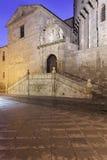 Östligt utfärda utegångsförbud för av domkyrkan av Avila royaltyfria bilder