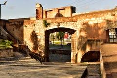 Östside- ingång till den koloniala staden av Santo Domingo Royaltyfri Fotografi