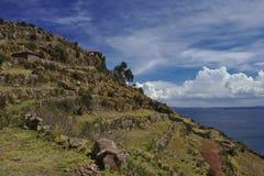 Öterrasser, sjö Titicaca Royaltyfri Bild